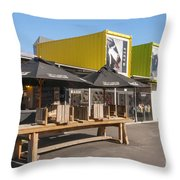 Restart Containers Throw Pillow