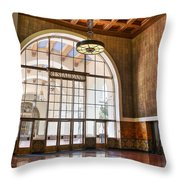 Restaurant In Los Angeles Union Station Throw Pillow