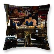 Restaurant In Montmartre Throw Pillow