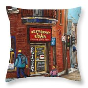 Restaurant John Throw Pillow