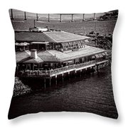 Restaurant On The Bay Throw Pillow