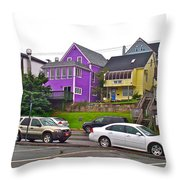 Restaurants In Lunenburg-ns Throw Pillow