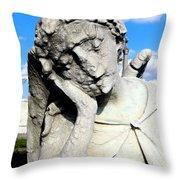 Resting Angel Throw Pillow