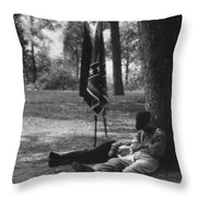 Resting At Gettysburg Throw Pillow