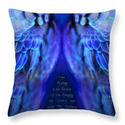 Psalm 91 Wings Throw Pillow