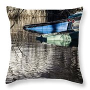 Resting Boats Throw Pillow
