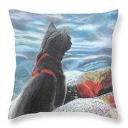 Resting By The Shore Throw Pillow