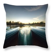 Resting Canoes Throw Pillow