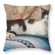 Resting Cat Throw Pillow