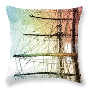 Resting In Harbor Throw Pillow