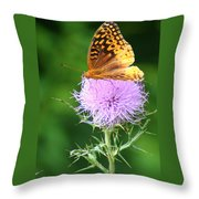 Resting On A Thistle Throw Pillow