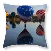 Resting On The Water Throw Pillow