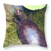 Resting On Weeds Throw Pillow