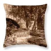 Resting Place - Digital Charcoal Drawing Throw Pillow