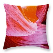 Resting Place In Lower Antelope Canyon In Lake Powell Navajo Tribal Park-arizona  Throw Pillow