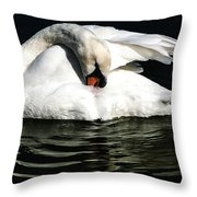Resting Swan Throw Pillow