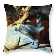 Resting With Texture Square Throw Pillow