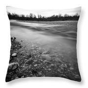 Restless River Throw Pillow by Davorin Mance