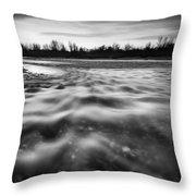 Restless River II Throw Pillow