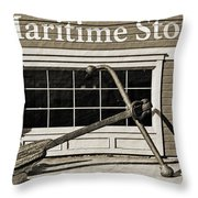 Restored Maritime Store Throw Pillow