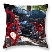 Restored Tractor Throw Pillow