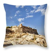 Rethymno Fortification Throw Pillow