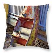 Retired Amusement Ride Boat Throw Pillow