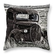 Retired Farm Truck Throw Pillow