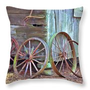 Retired Friends Throw Pillow