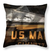 Retired Mail Carrier - Pitcairn P-6 Mailwing 1929 Throw Pillow