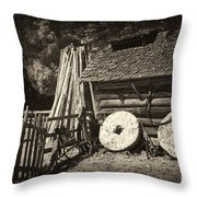 Retired Mill Stones Throw Pillow