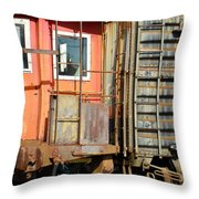 Retired Railroad Throw Pillow