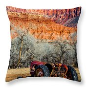 Retired With A View Throw Pillow