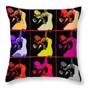 Retro 50s Rockabilly Throw Pillow by Tommytechno Sweden