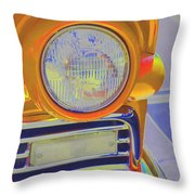 Retro Auto Two Throw Pillow