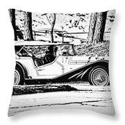 Retro Cabriolet Throw Pillow