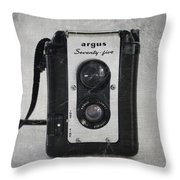 Retro Camera Throw Pillow