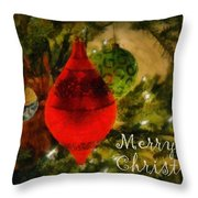 Retro Christmas Throw Pillow