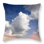 Retro Clouds 2 Throw Pillow