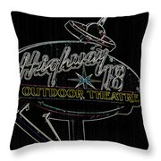 Retro Collection Drive-in Theaters Throw Pillow