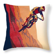 Retro Cycling Fine Art Poster Good To The Last Drop Throw Pillow
