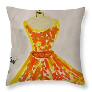 Retro Fall Fashion Throw Pillow