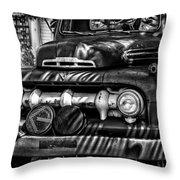 Retro Fire Engine Throw Pillow