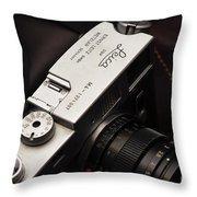 Retro Leica M4 Throw Pillow