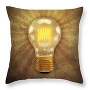 Retro Light Bulb Throw Pillow