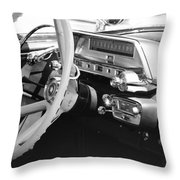 Retro Police Dash Throw Pillow