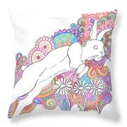 Retro Rabbit 2 Throw Pillow