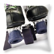 Retro Roller Skates Throw Pillow by Jose Elias - Sofia Pereira