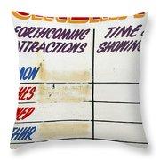 Retro Roxy Cinema Sign Throw Pillow