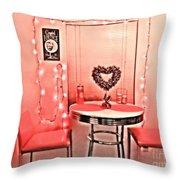 Retro Valentine Throw Pillow